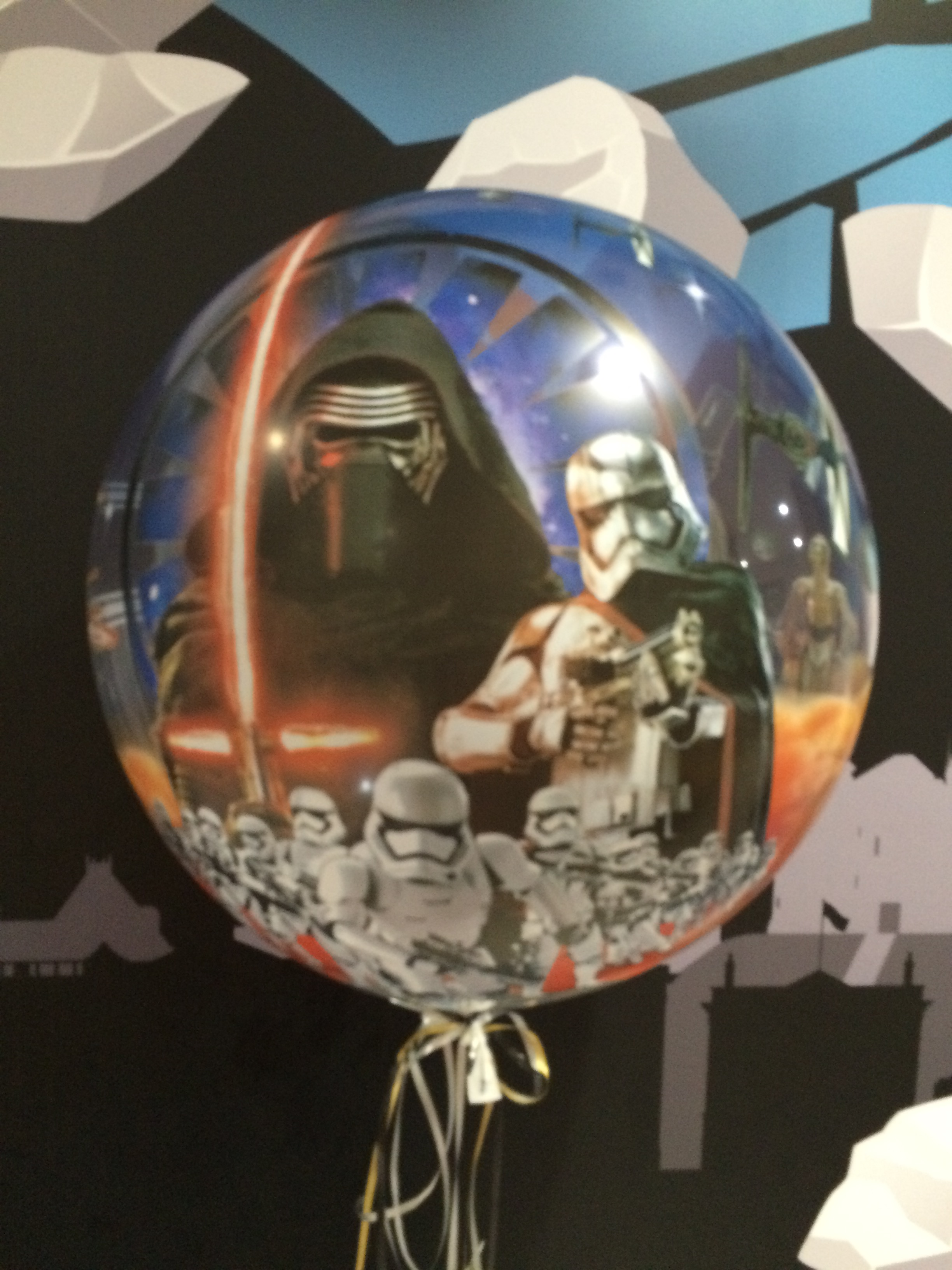 Starwars bubble balloon - the complete picture
