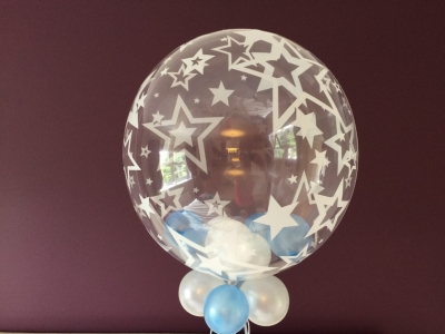 Birthday/ Christening - little balloons inside one of the new star bubble balloons
