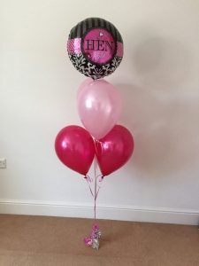 Centrepiece Group of 4 pearlised latex balloons with a special message foil balloon