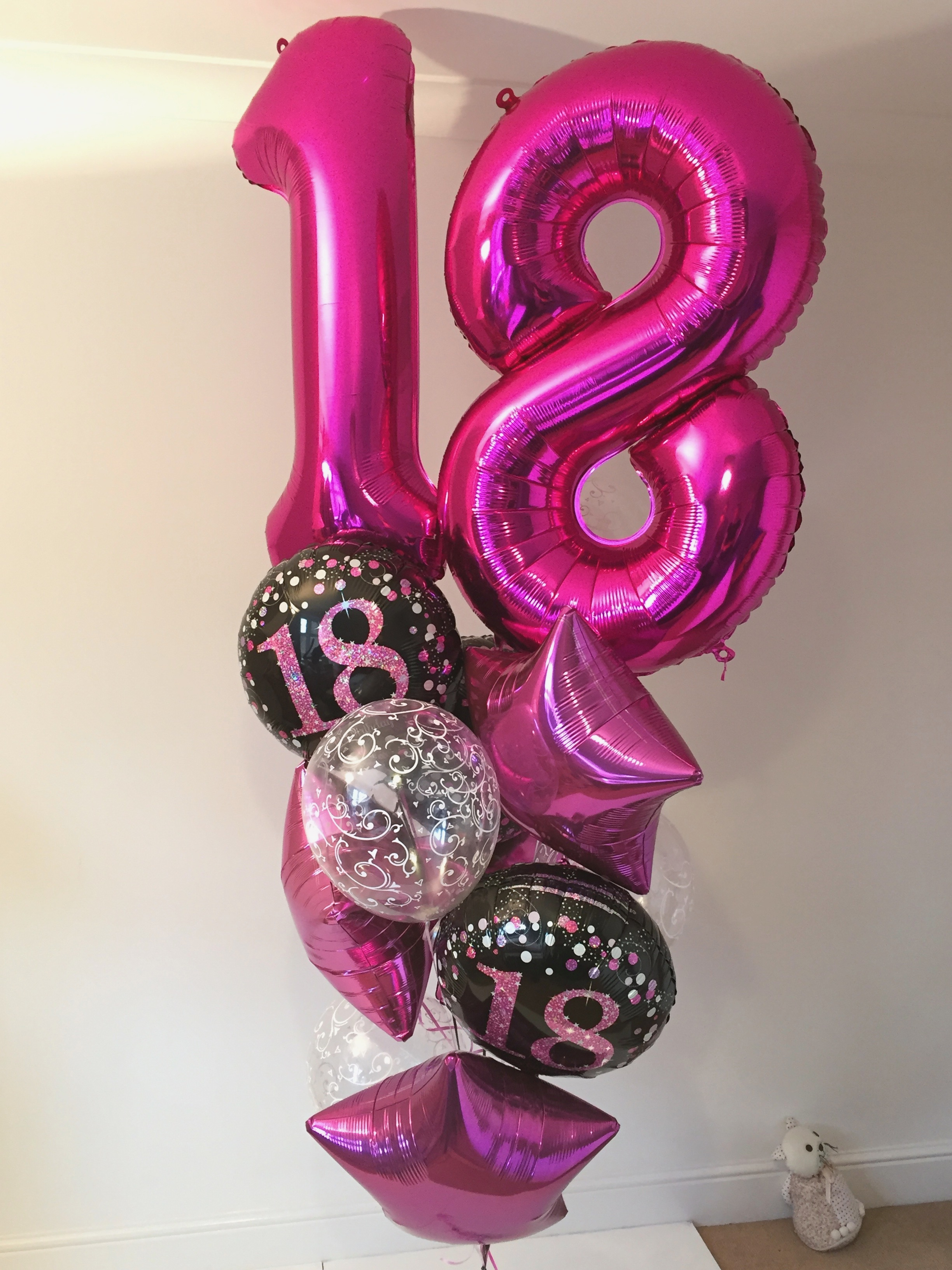 number foils latex balloons
