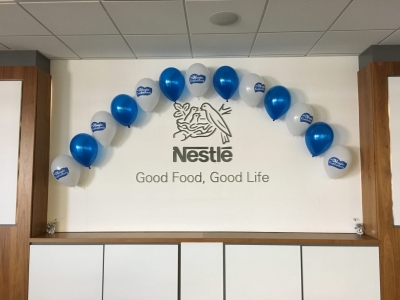 Nestle printed balloons product launch