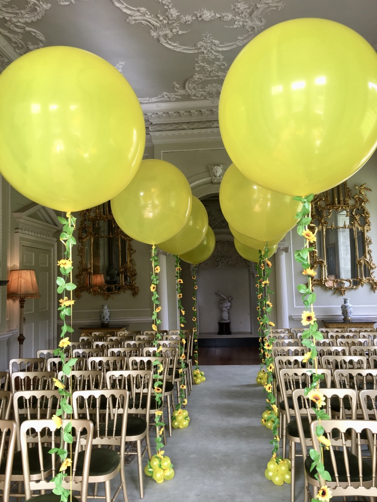 Giant balloons with floral decoration