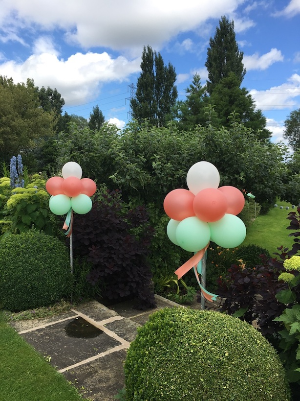 Balloon topiary trees