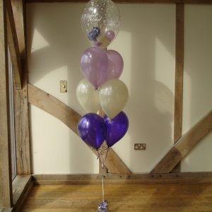 Gumball balloon Just married purple ivory