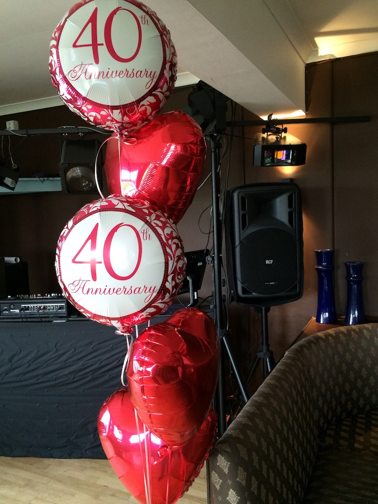 ruby anniversary 40th wedding red