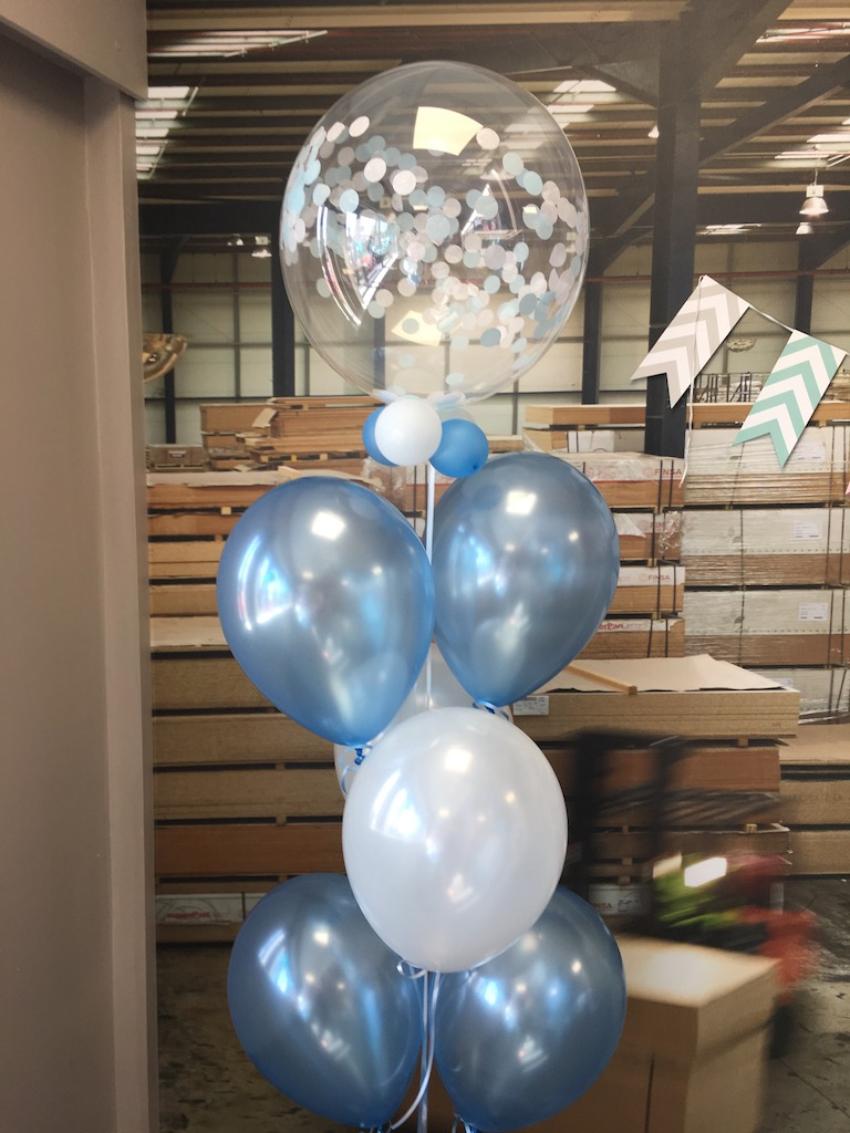 confetti blue bubble blue balloons