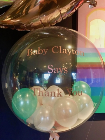 mini balloons bubble personalised