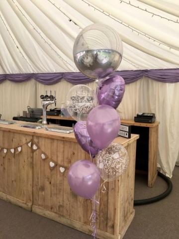 Silve rOrbz lilac hearts filigree balloons