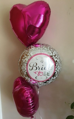 foil heart balloons bride to be