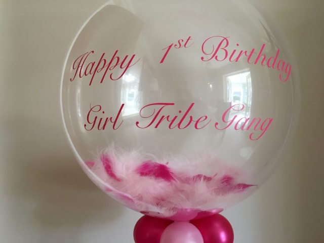 pink, feather, bubble, balloon