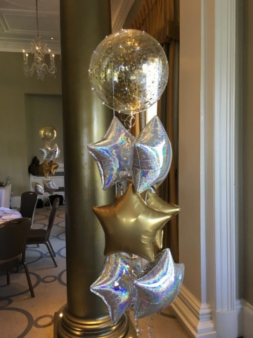 aqua balloon stars dazzle glitz party