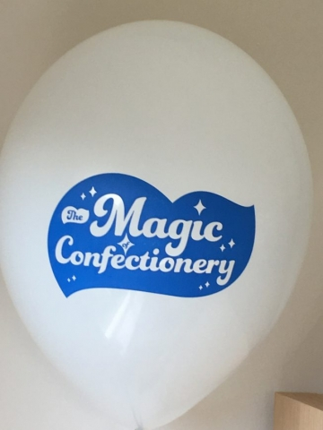 printed balloons, Nestle, latex balloons