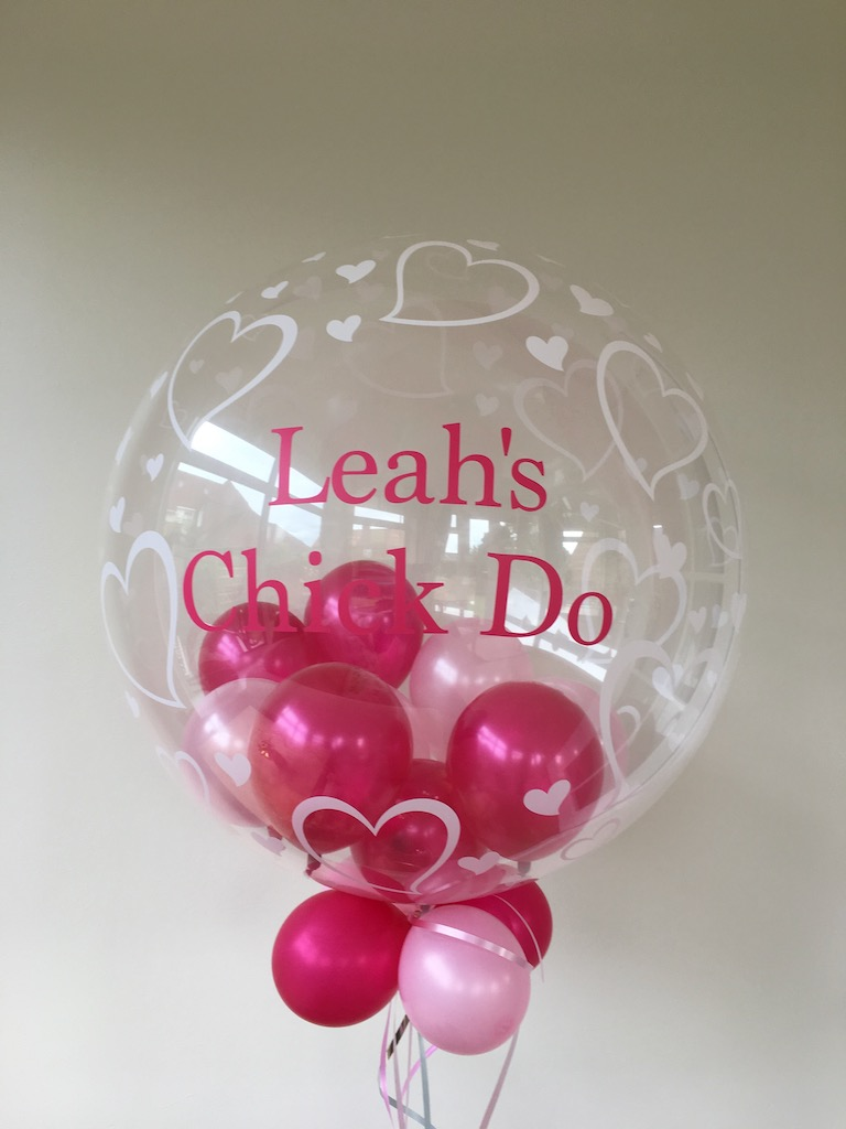 heart bubble little balloons pink