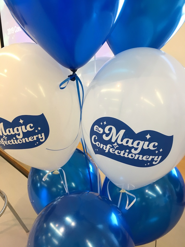 nestle printed latex balloons