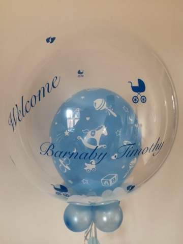 new baby bubble personalised