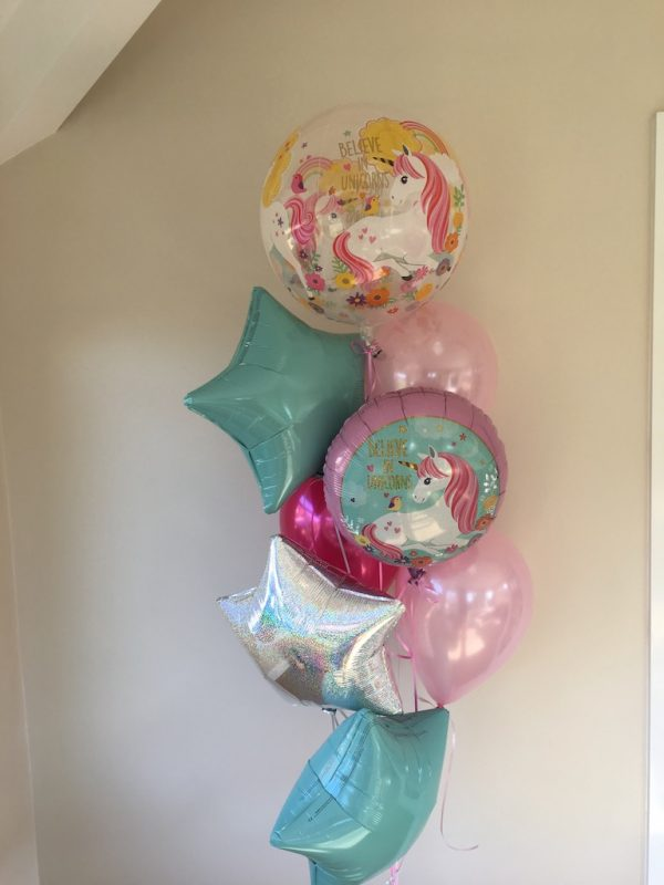 Unicorn foils latex balloons