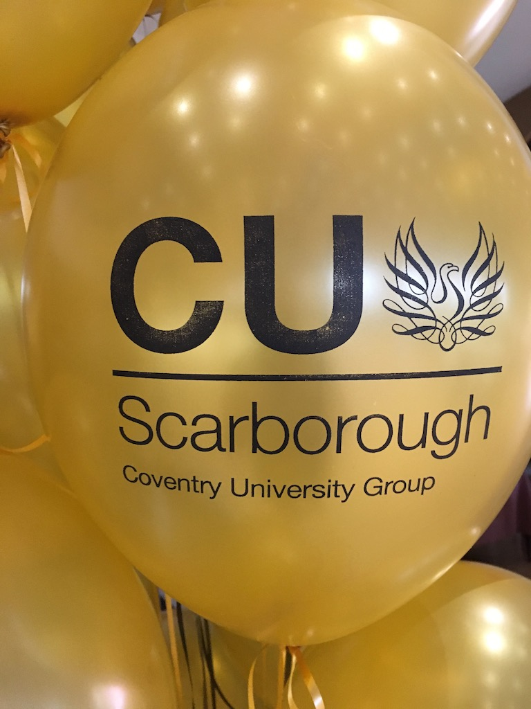 Coventry University printed balloons