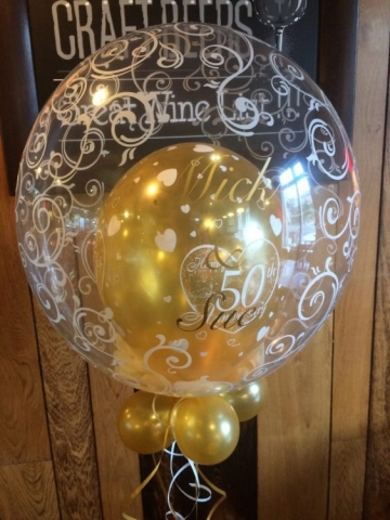 filigree bubble 50 anniversary golden