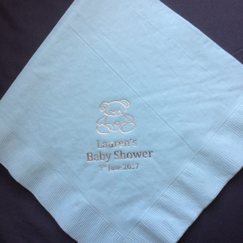 personalised serviette, personalised, teddy