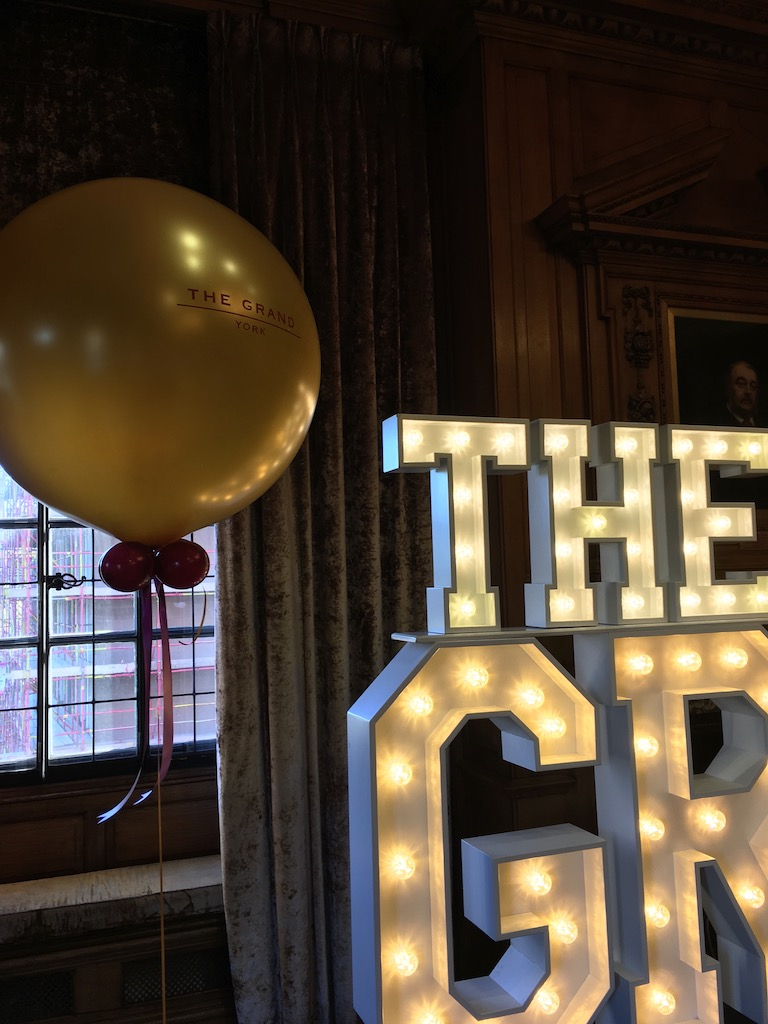 Grand giant balloon logo personalised