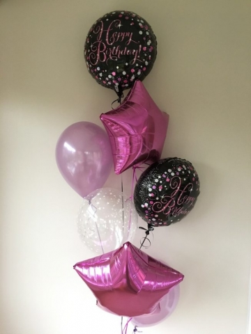 Happy birthday celebration pinks lilac