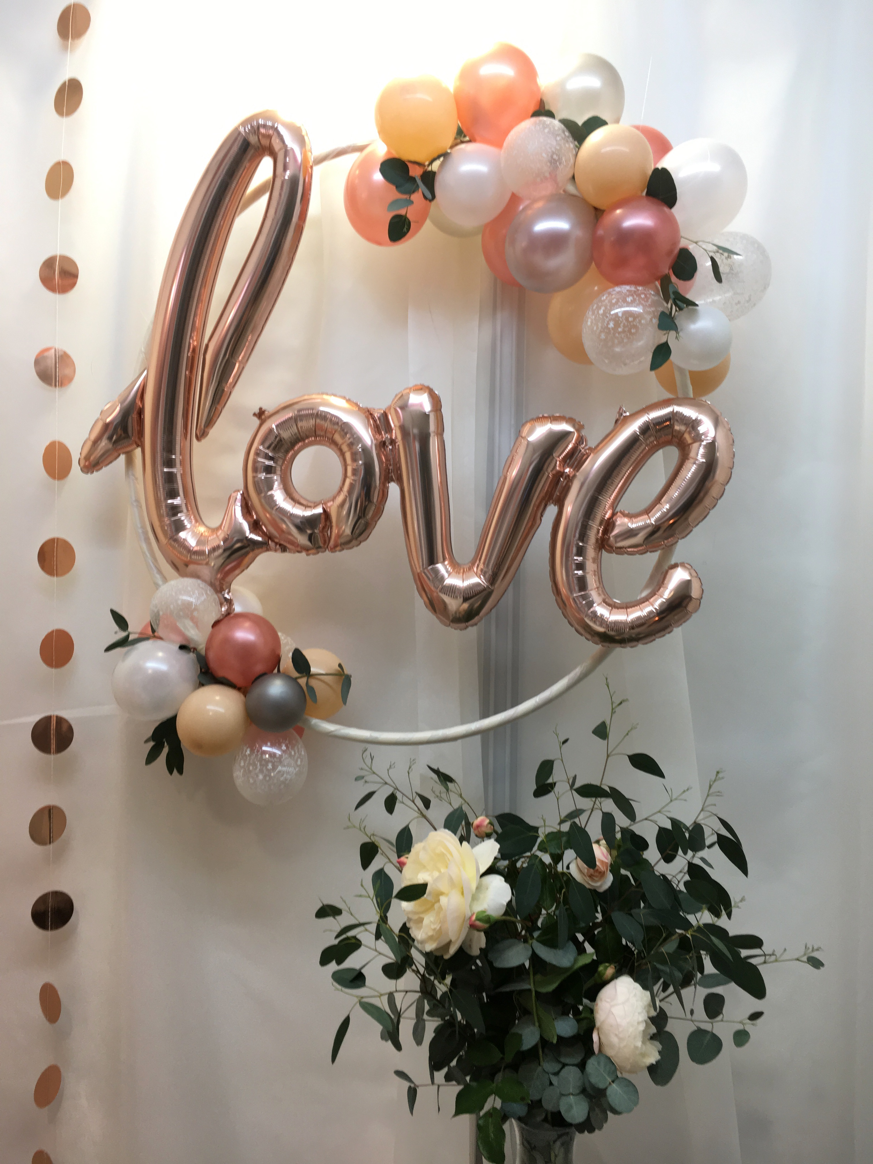 organic love hoop rose gold