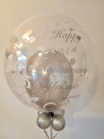 25 anniversary bubble wedding silver