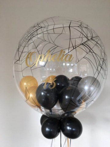 spider web bubble little balloons personalised