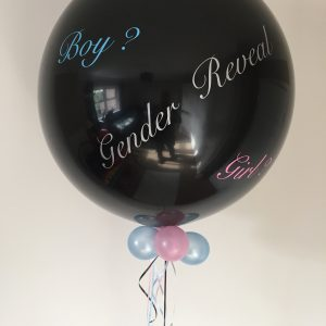 Gender reveal balloon boy girl