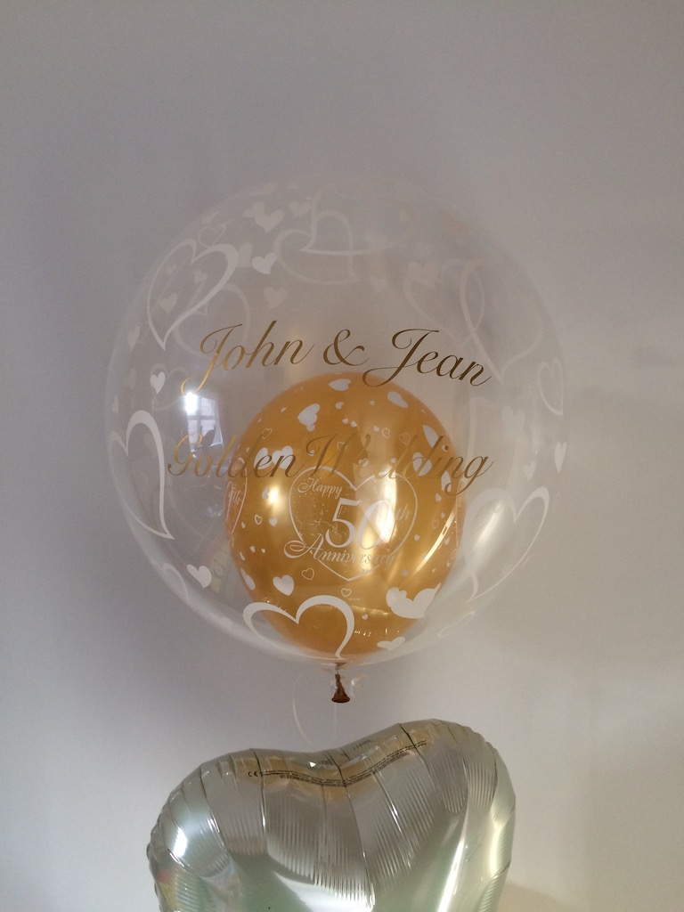 personalised golden anniversary wedding 50