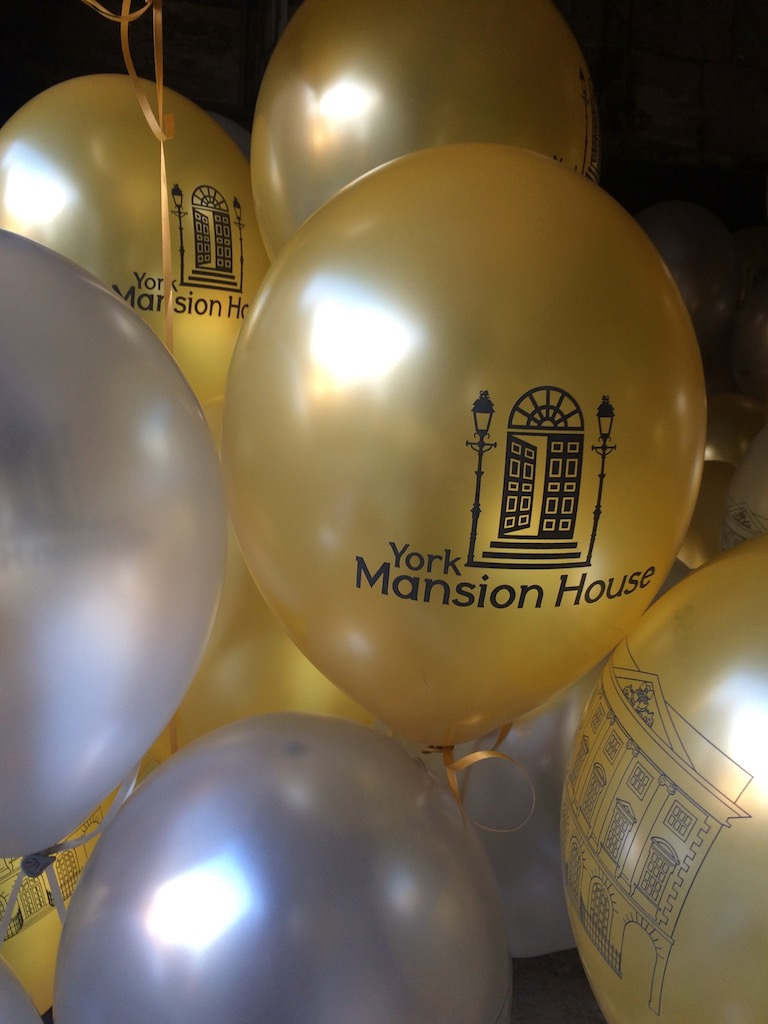 Mansion House printed balloons