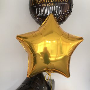 Graduation foil balloon display