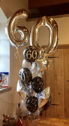 Large balloon display for special birthdays